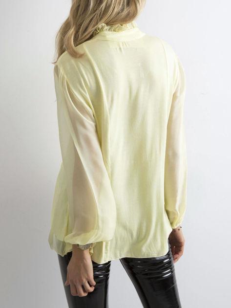 Żółta bluzka z żabotem                              zdj.                              2