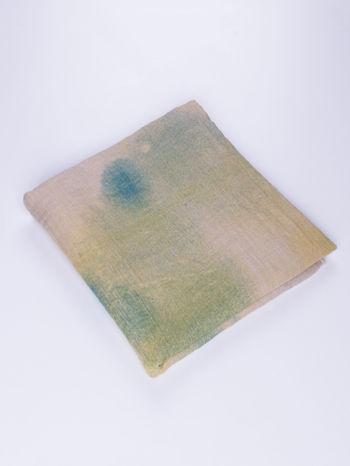 Żółta chusta z efektem ombre                                  zdj.                                  2