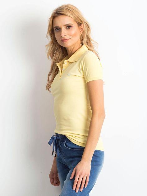 Żółta damska koszulka polo                              zdj.                              3