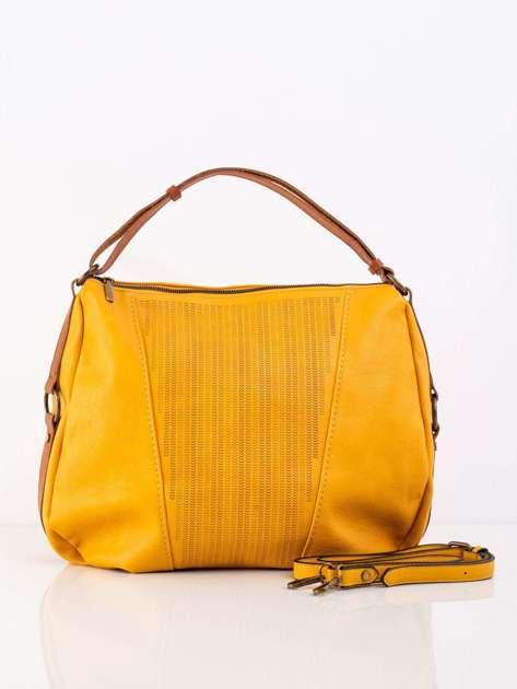 Żółta damska torba z odpinanym paskiem
