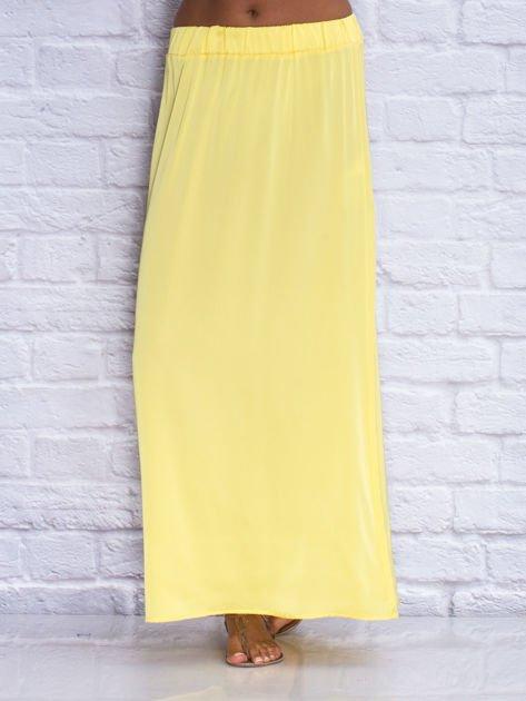Żółta długa spódnica maxi                              zdj.                              1