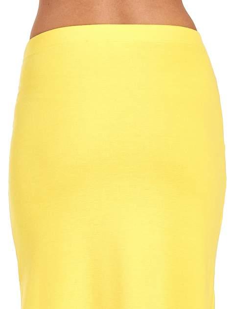 Żółta długa spódnica maxi z rozporkiem                                  zdj.                                  7