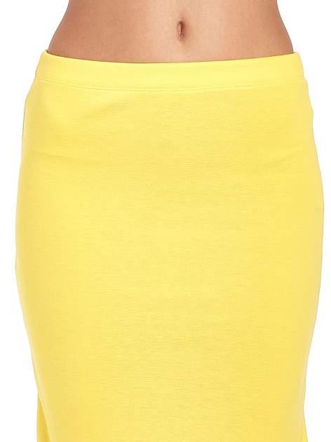 Żółta długa spódnica maxi z rozporkiem                                  zdj.                                  5