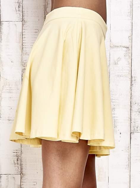 Żółta dresowa spódnica szyta z koła                                  zdj.                                  5