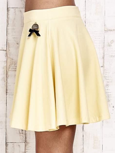 Żółta dresowa spódnica szyta z koła                                  zdj.                                  7