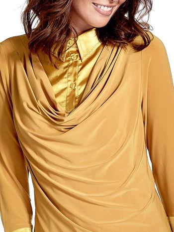 Żółta dwuwarstwowa koszula z rękawem 3/4                                  zdj.                                  6