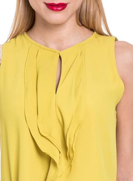 Żółta elegancka koszula z żabotem                                  zdj.                                  5