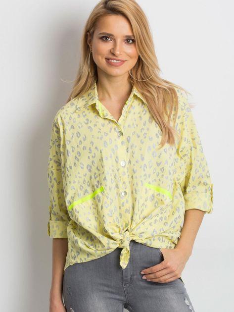 Żółta koszula Stylish                              zdj.                              1