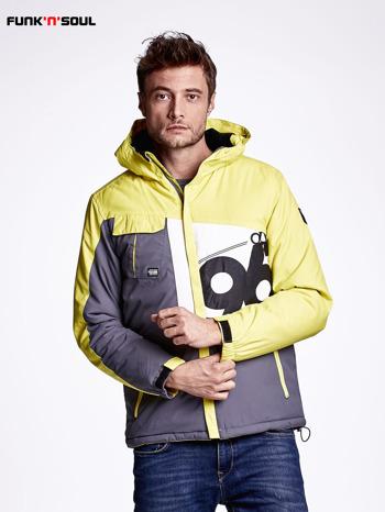 Żółta kurtka męska outdoorowa FUNK N SOUL                              zdj.                              1