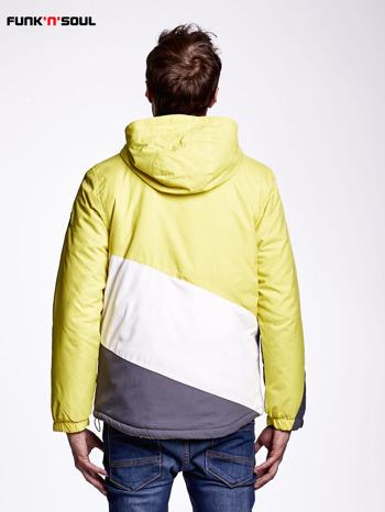 Żółta kurtka męska outdoorowa FUNK N SOUL                              zdj.                              2