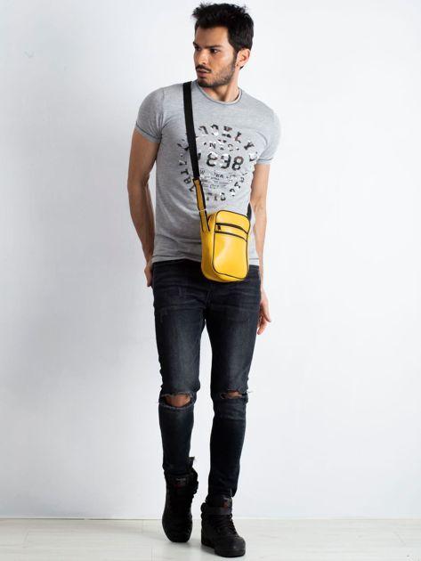 Żółta męska torba listonoszka                              zdj.                              5