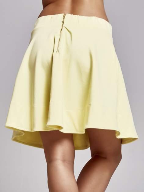 Żółta spódnica dresowa skater                                  zdj.                                  6