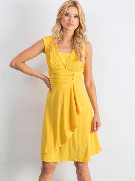 Żółta sukienka Decorative                              zdj.                              1
