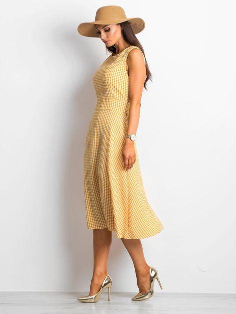 Żółta sukienka Respected                              zdj.                              3