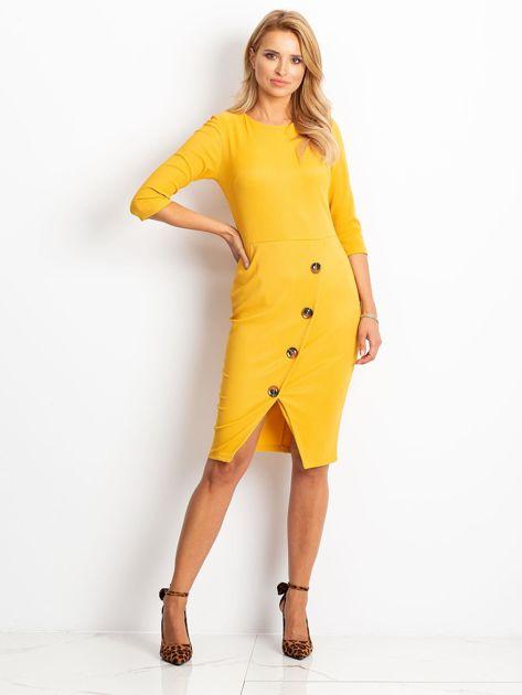 Żółta sukienka Shape                              zdj.                              1