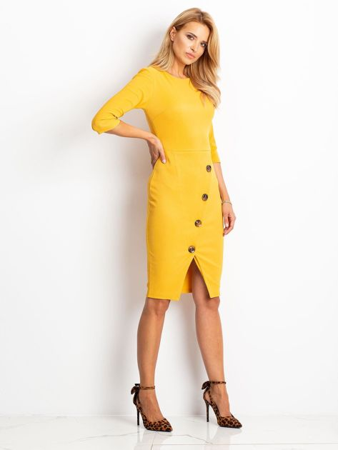 Żółta sukienka Shape                              zdj.                              3