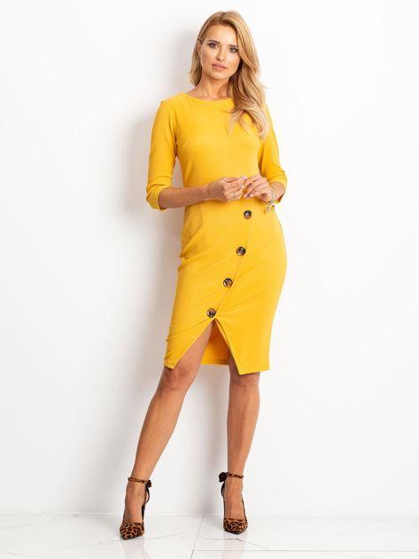 Żółta sukienka Shape                              zdj.                              4