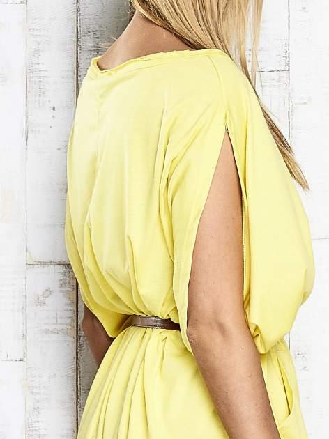 Żółta sukienka oversize z guzikami                                  zdj.                                  7