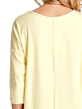 Żółta sukienka z rękawem za łokieć                                  zdj.                                  5