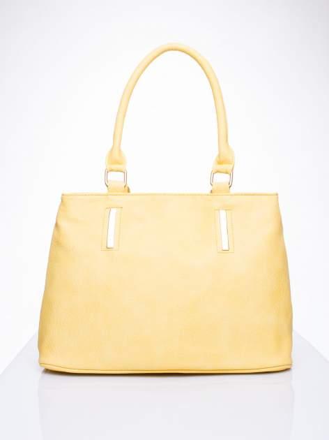Żółta torba miejska na ramię                                  zdj.                                  2