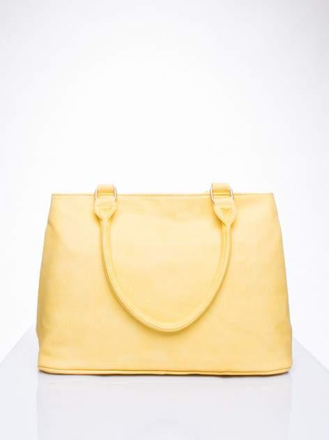 Żółta torba miejska na ramię                                  zdj.                                  4