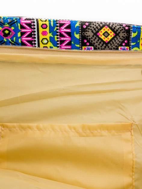 Żółta torba plażowa w azteckie wzory                                  zdj.                                  8