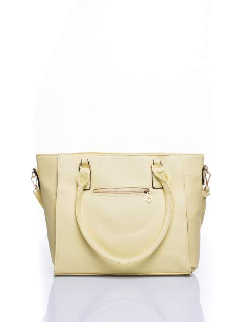 Żółta torba shopper bag z odpinanym paskiem                                  zdj.                                  2