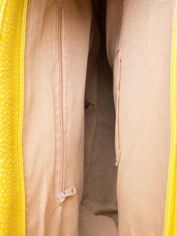Żółta torba shopperka z odczepianym paskiem                                   zdj.                                  4