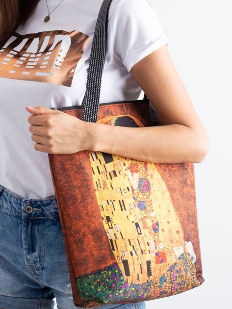 Żółta torba z motywem malarskim                               zdj.                              2