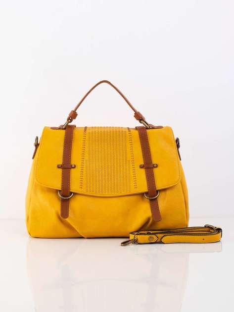 Żółta torba z odpinanym paskiem