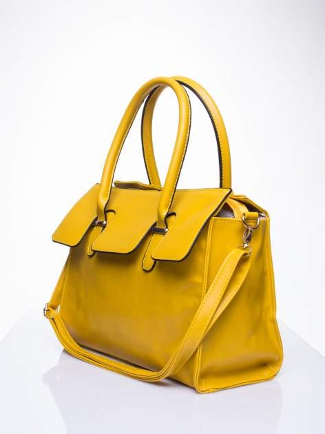 Żółta torebka teczka z klapką                                  zdj.                                  3