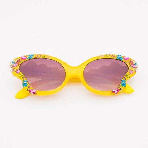 Żółte Dziecięce Okulary przeciwsłoneczne MOTYL                              zdj.                              1