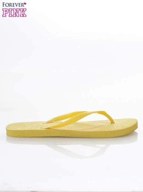 Żółte gumowe japonki damskie