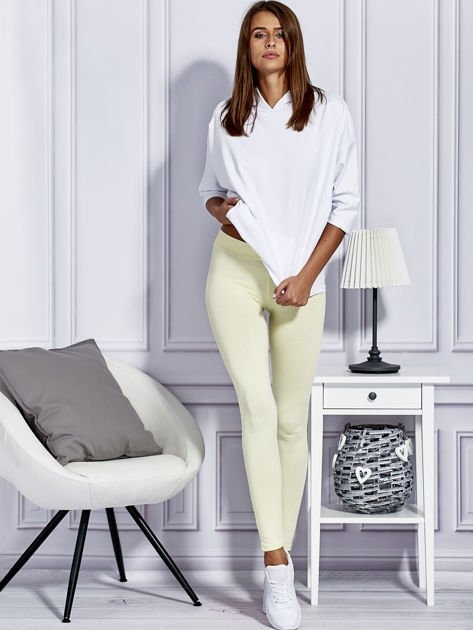 Żółte legginsy basic                              zdj.                              4