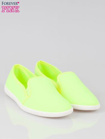 Żółte lekkie buty sliponki                                  zdj.                                  2