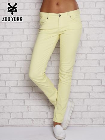 Żółte proste spodnie z napami                                  zdj.                                  1