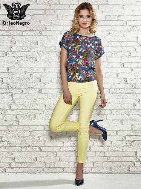 Żółte spodnie rurki skinny                                  zdj.                                  4