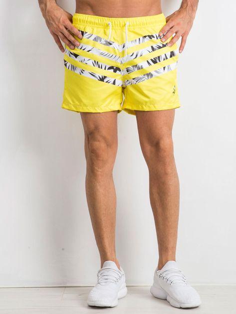 Żółte szorty męskie Travis                              zdj.                              1