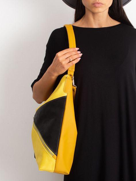 Żółto-czarna miejska torba                              zdj.                              3