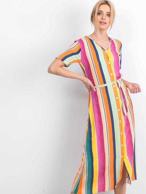 Żółto-różowa sukienka Mishaps                              zdj.                              1