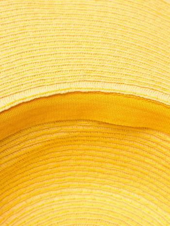 Żółty kapelusz z dużym rondem i dżetami                                  zdj.                                  6