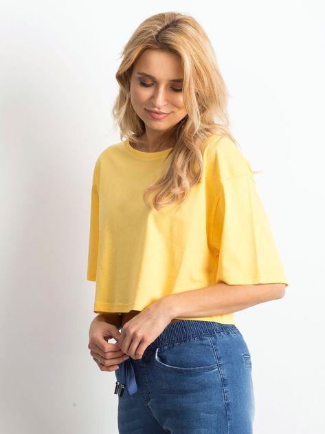 Żółty krótki t-shirt                               zdj.                              4