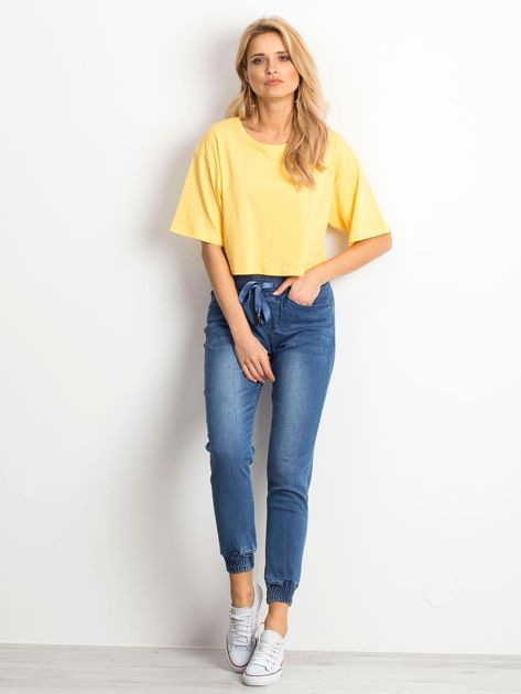 Żółty krótki t-shirt                               zdj.                              2