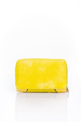 Żółty portfel z ozdobną złotą klamrą                                  zdj.                                  2