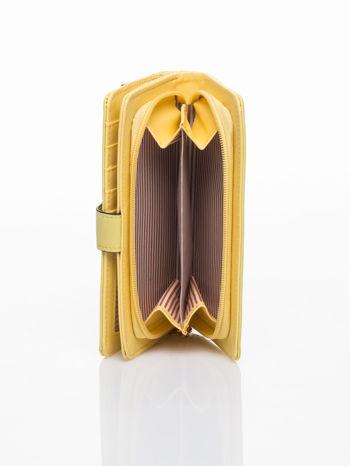 Żółty portfel z plecionką                                  zdj.                                  5