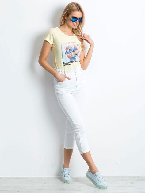 Żółty t-shirt Leisure                              zdj.                              4