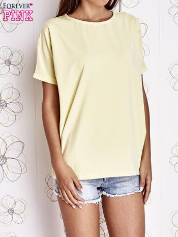 Żółty t-shirt oversize                                  zdj.                                  1