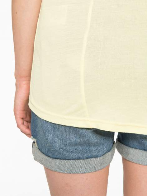 Żółty t-shirt z motywem Paryża                                  zdj.                                  11