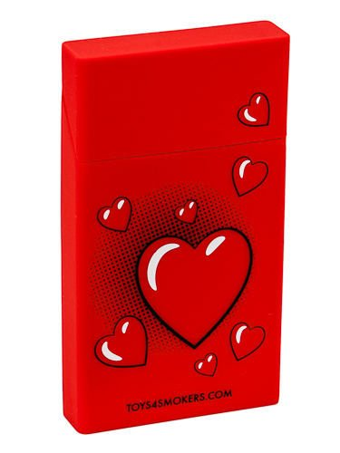 toys4smokers SLIM/Etui silikonowe na papierosy -Red heart                              zdj.                              1