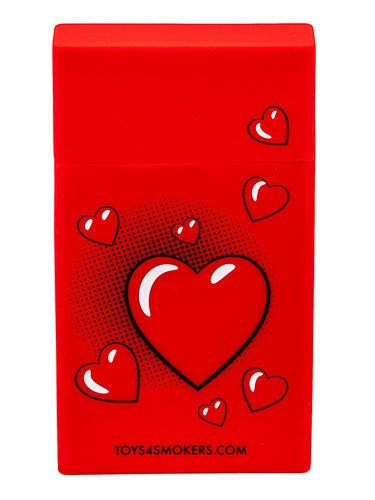 toys4smokers SLIM/Etui silikonowe na papierosy -Red heart                              zdj.                              3
